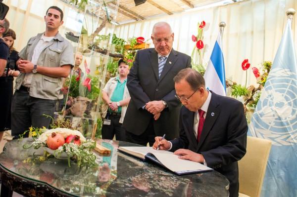 Sukkot_Jerusalem_Ban Ki-Moon_Reuven Rivlin_Sukkah