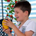 Sukkah-Citron-Israeli Boy-Sukkot-Feast of Tabernacles