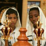 Jewish Boys Torah Scroll crown