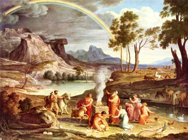 Landscape with Noah's Thank Offering, by Joseph Anton Koch