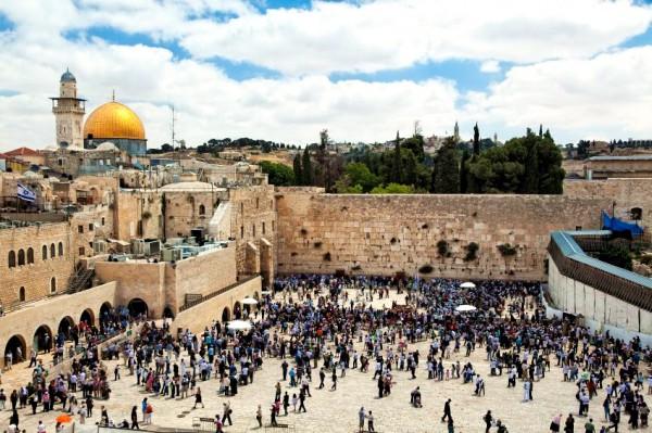Jewish Prayer-Western Wall Plaza-Temple Mount