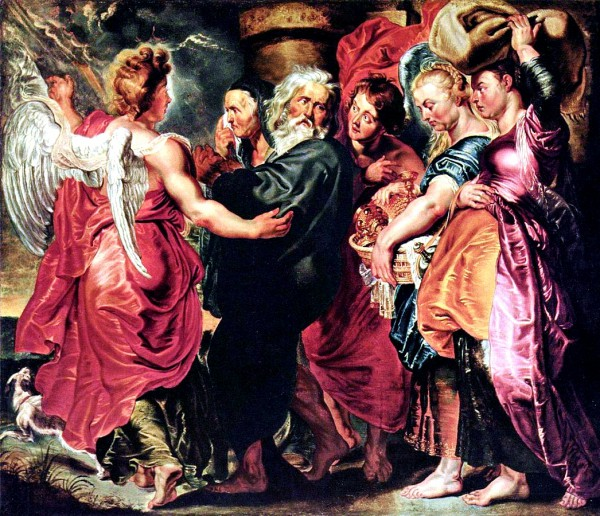 The Departure of Lot and His Family from Sodom-Peter Paul Rubens