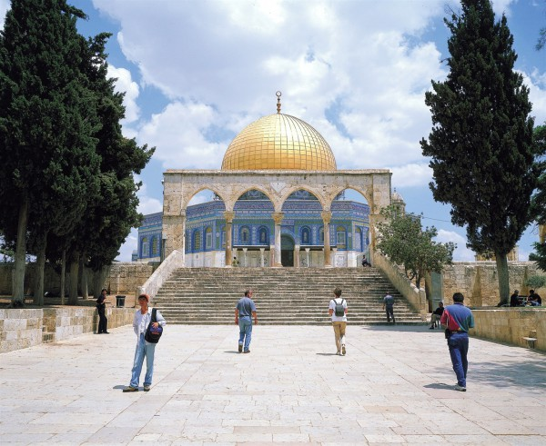 Temple Mount-tourists-Dome of the Rock