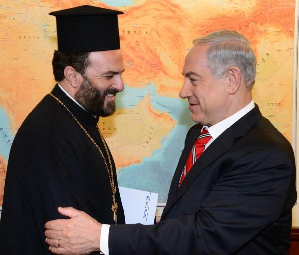 Prime Minister-Benjamin Netanyahu-Gabriel Nadaf-Nazareth priest