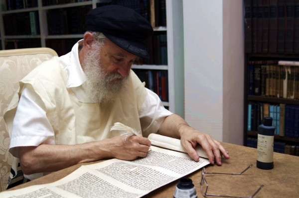 Orthodox Jewish Scribe-Torah scroll-Sefer Torah