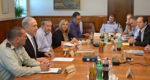 Yehuda Glick-Netanyahu-Cabinet meeting