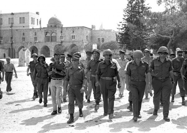 Soldiers in Reunited Jerusalem 1967