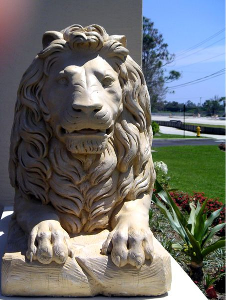 The Lion of the Tribe of Judah at a synagogue in the United States