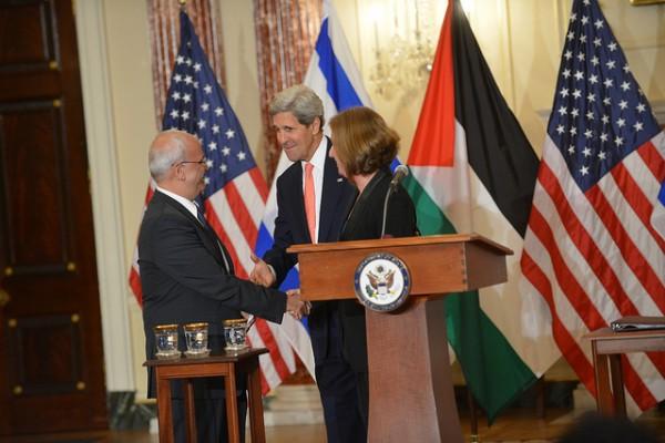 Tzipy Livni John Kerry Saeb Erekat