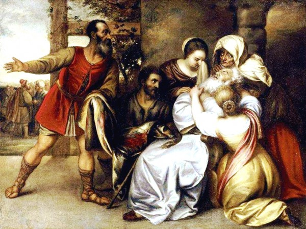 Jacob Receiving the Bloody Tunic of Joseph, by Jan Lievens