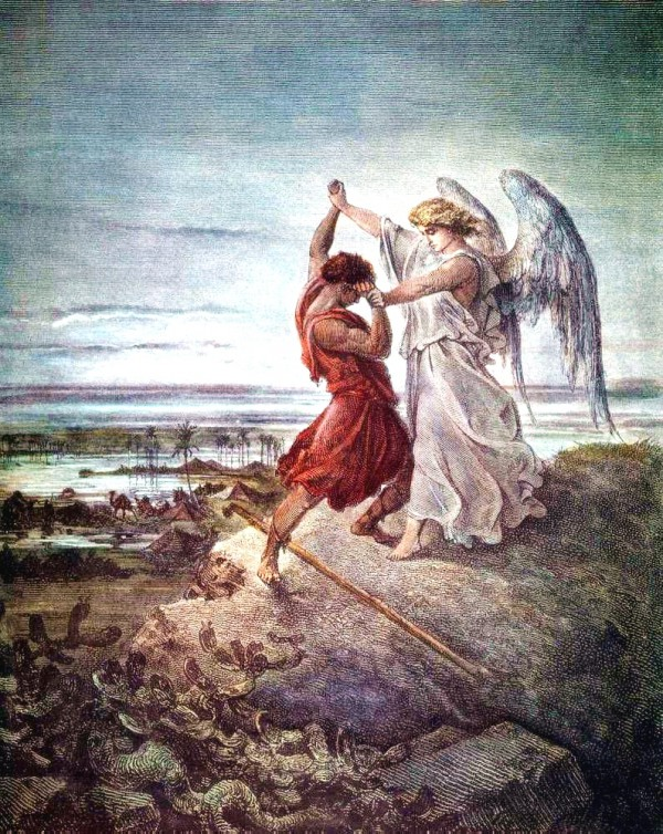 Jacob Wrestling with the Angel, by Gustav Dore