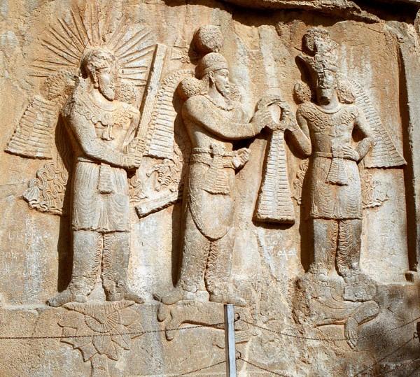 Relief of emperor Ardashir I or II