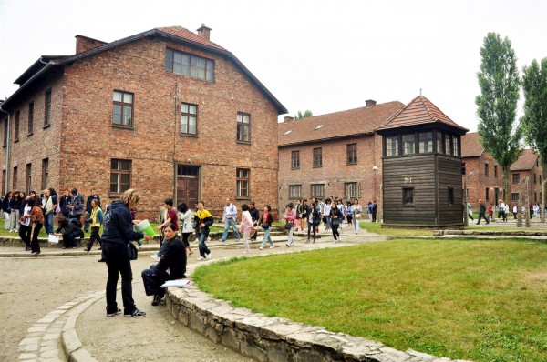 Visitors to Auschwitz