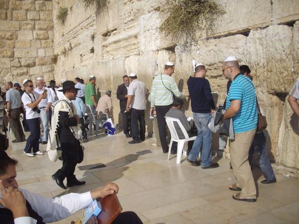 Jewish Men-Pray-Wester Wall-Jerusalem