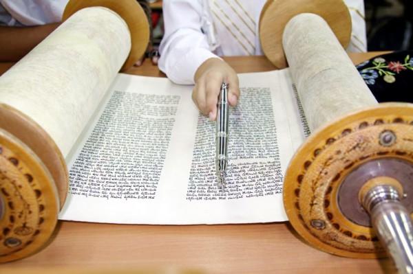 Torah scroll-yad