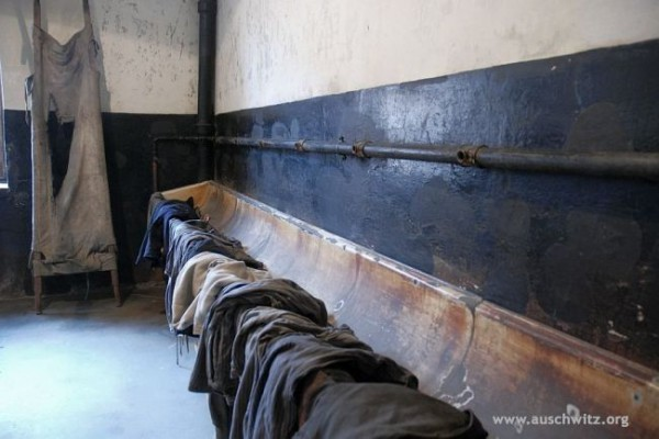 Changing room Auschwitz