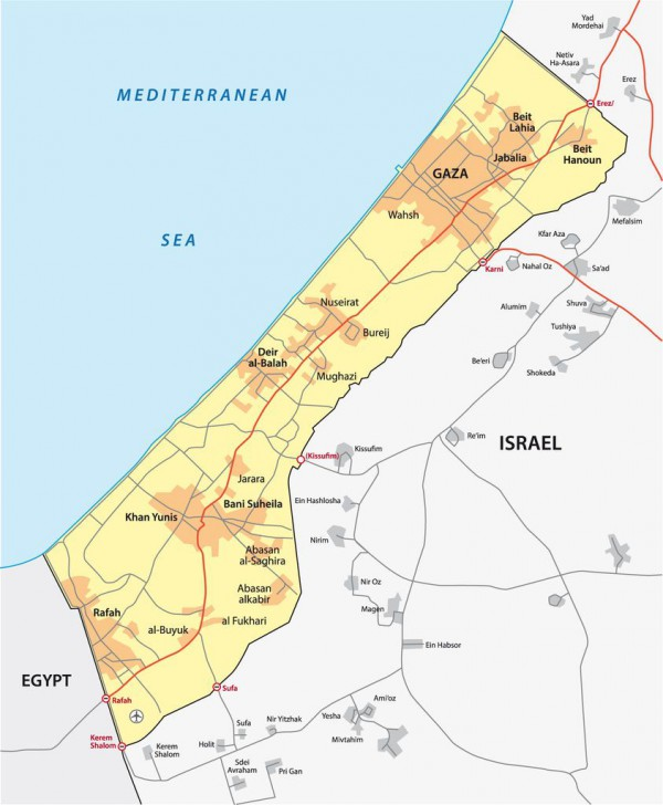 Gaza Strip-map