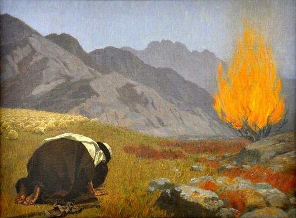 Moses and the Burning Bush, by Gebhard Fugel