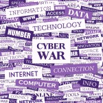 Cyber war graphic