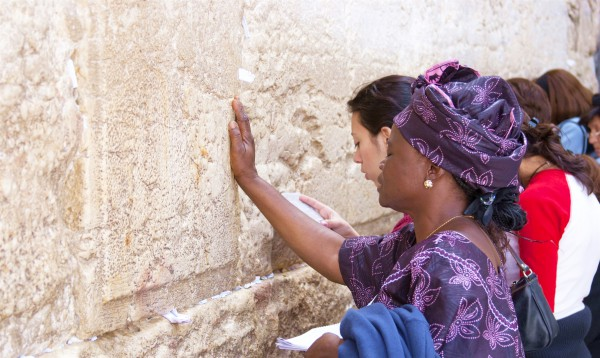 Women pray at the Western (Wailing) Wall in Jerusalem.