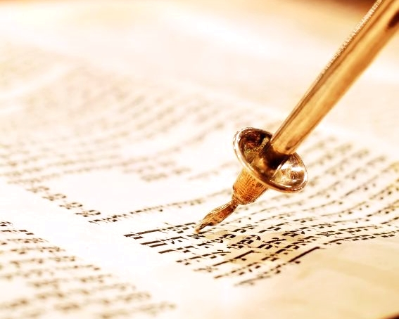 Torah scroll and yad