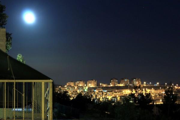 Supermoon Over Israel