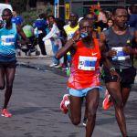 First Place winner of the Jerusalem Marathon Tadesse Yae Dabi March 13, 2015