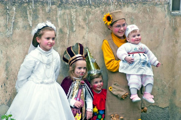 Israeli children dress in costumes for Purim