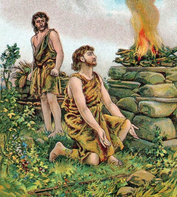 Cain is resentful that Abel's offering is accepted