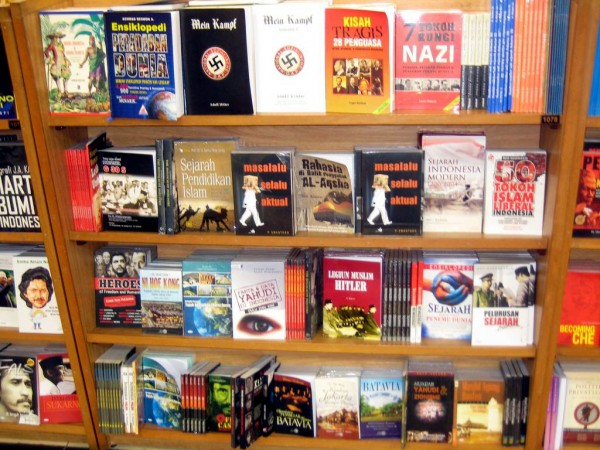 Copies of Mein Kampf for sale in Indonesia