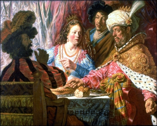 The Feast of Esther, by Jan Lievens