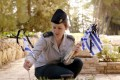 Flags are placed on the graves of Israel's fallen soldiers for Yom HaZikaron.