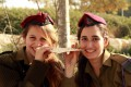 IDF soldiers eat matzah in the field
