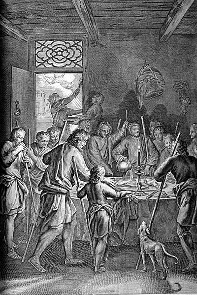 The Israelites Eat the Passover