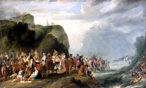 Crossing of the Red Sea, by Cornelis de Wael