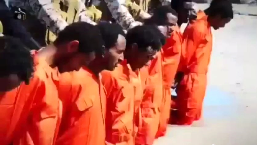 ISIS murders Ethiopian Christians for no other reason than that they are Christians.  (YouTube capture)
