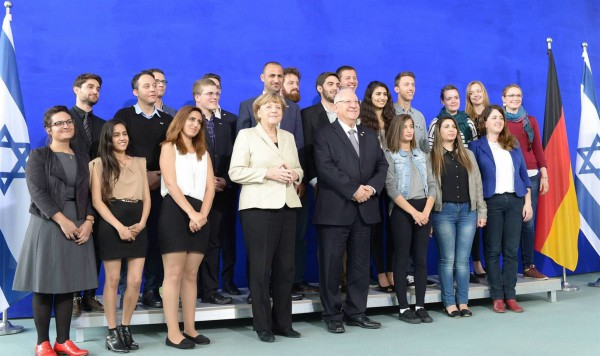 Germany-Israel-students-Merkel-Rivlin