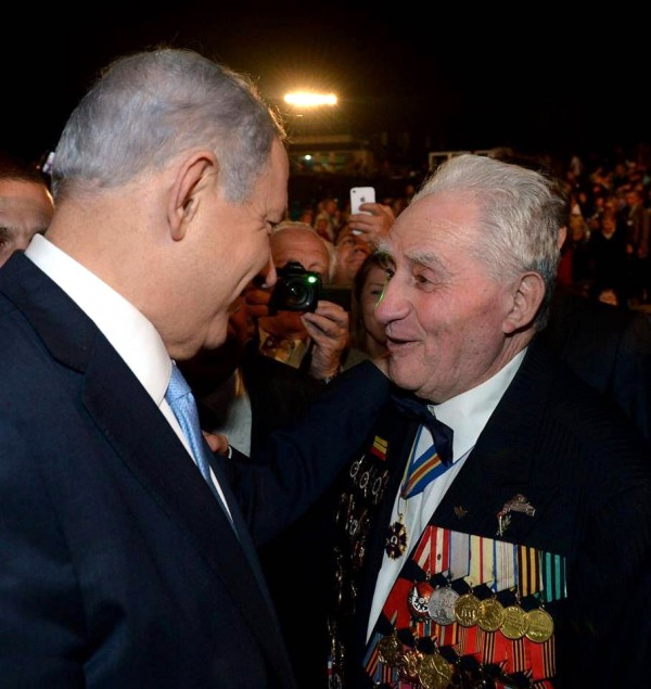 PM Netanyahu with a WWII veteran