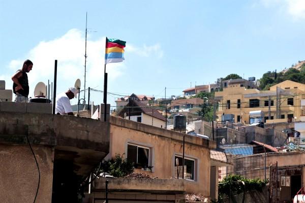 Druze-flag-village-Golan Heights