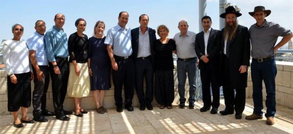 Jerusalem Unity Prize winners-families of the slain Israeli teens-Jerusalem Mayor Nir Barkat