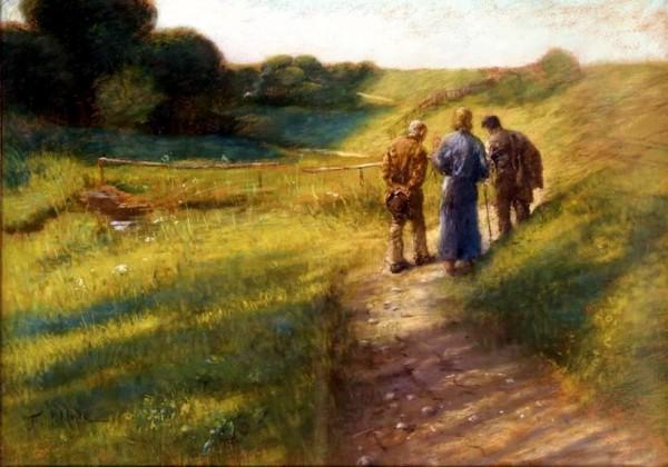 Road to Emmaus by Fritz Von Uhde