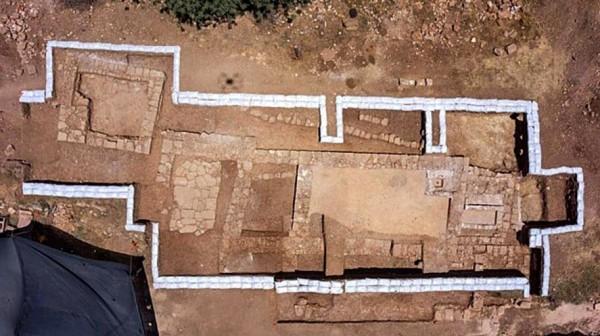 Byzantine Church site aerial photo