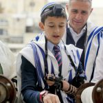 A young man has his Bar Mitzvah (Son of the Commandment) in Jerusalem. (Ministry of Tourism photo by Jonathan Sindel)