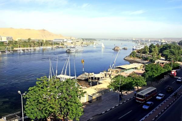 The Nile River at Aswan, Egypt
