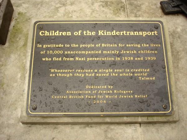 A plaque at Liverpool Station