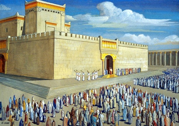 The Dedication of the Temple by Solomon (Source: The Temple Institute Facebook)