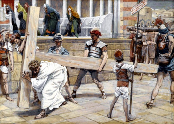 Yeshua Bearing the Execution Stake, by James Tissot