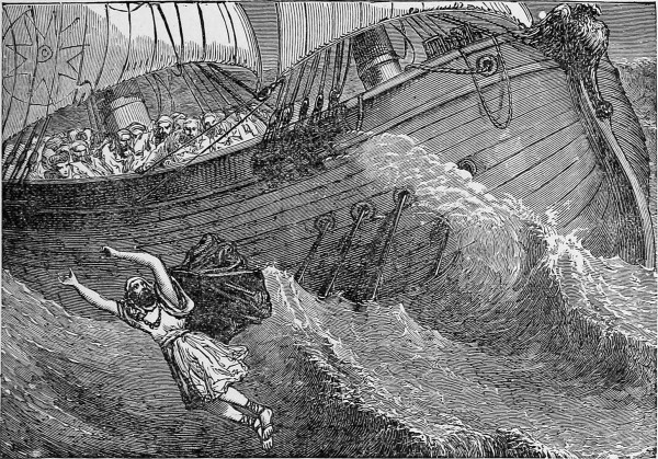 Jonah Cast Into the Sea (Delightful Stories 1888)