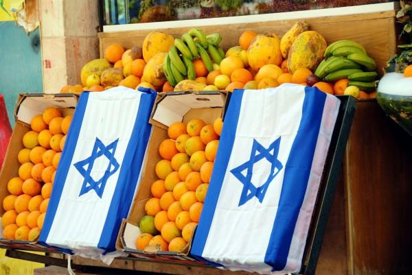 Fruit stall in the Nachlaot neighborhood of Jerusalem.