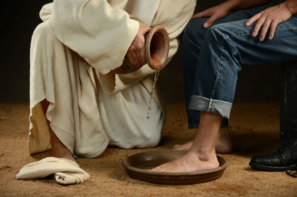 """Now that I, your Lord and Teacher, have washed your feet, you also should wash one another's feet."" (John 13:14)"